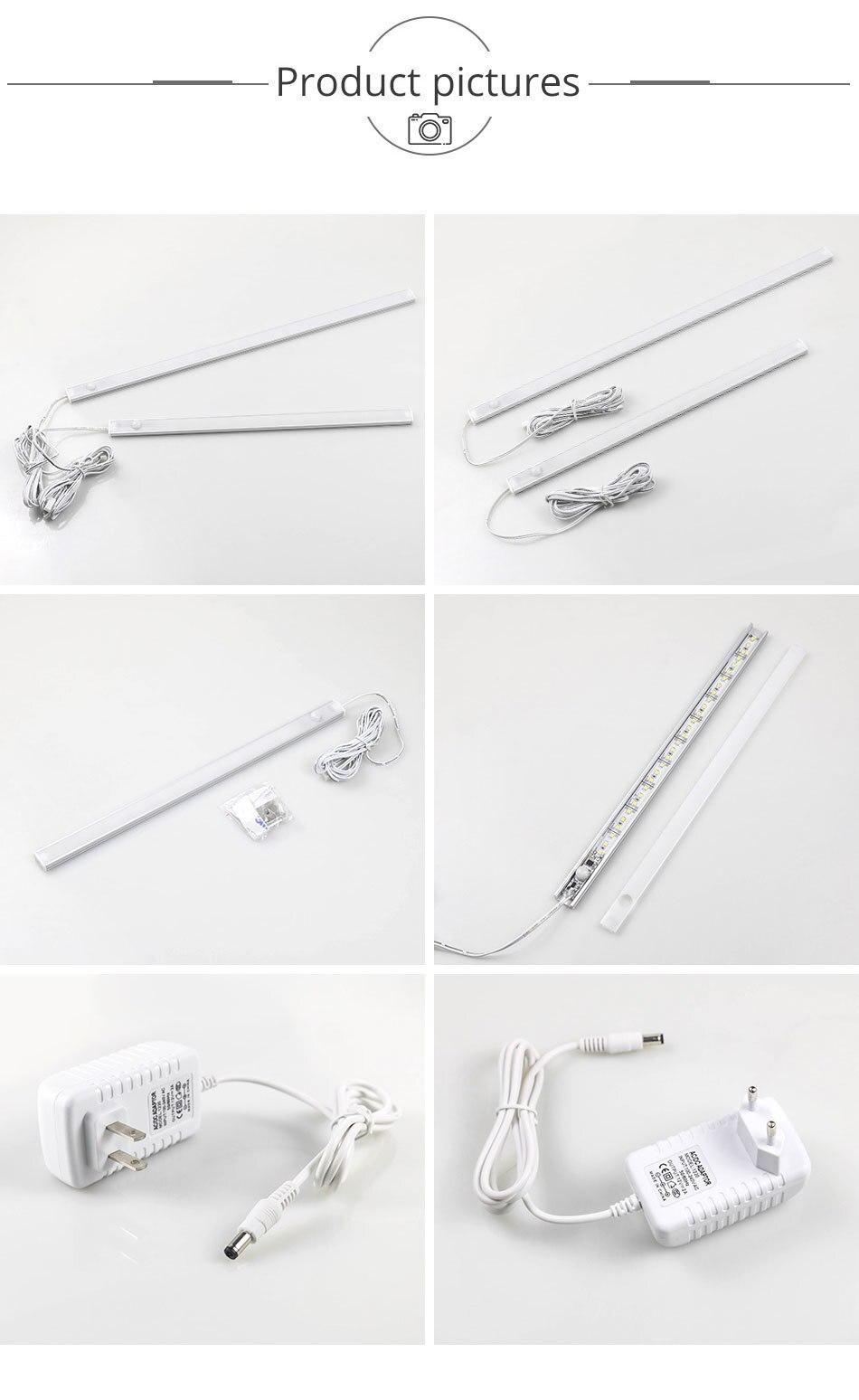 PIR 12V DC Aluminnum LED Under Cabinet Lights BodyLight Sensor Light Kitchen Wardrobe Night Lighting Cabinet Lamps (12)
