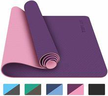 Yoga Mat 183 * 61cm 6mm Beginner Yoga / Exercise Mat Pilates Fitness Non-slip Thickening Mat Strap Portable Yoga Fitness Mat недорого