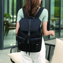 Black Oxford School Bags for Teenagers Girls Drawstring Backpack Female Student Large Capacity Bookbag Ladies Waterproof Mochila