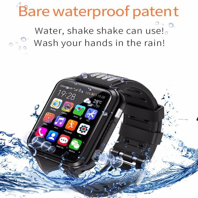 สมาร์ทนาฬิกาโทรศัพท์Android 4Gเด็กSmartWatchซิมการ์ดและการ์ดTF Dualกล้องนาฬิกาWifi GPSตำแหน่งquad Core