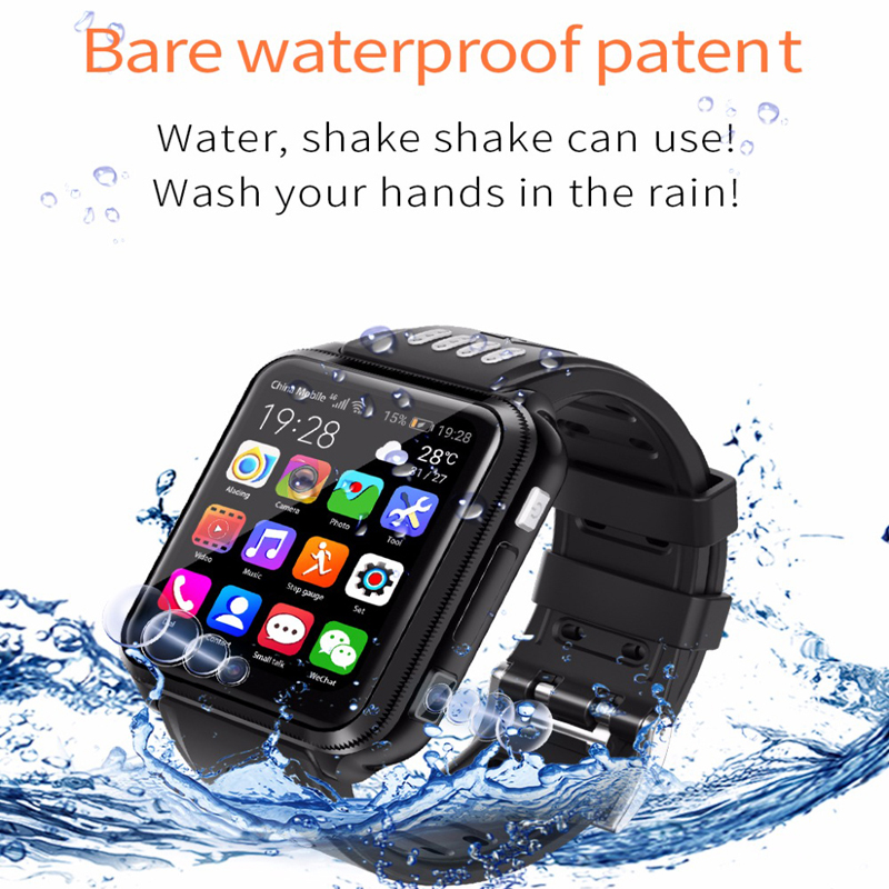 Smart watch 4G Children's Android phone kids SmartWatch with Sim Card and TF card Dual camera wifi watches   GPS positioning Smart Watches     - title=