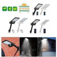 36/48/56LED güneş enerjili hareket sensörü sensörü sokak lambası uzaktan kumanda üç kalkan ayarlanabilir açık bahçe duvar lambası siyah/beyaz 20x11cm