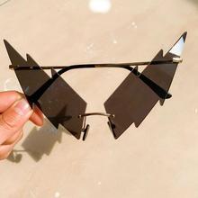 nauq new trend Lightning-shaped sunglasses women 2020 Brand designer fashion ove
