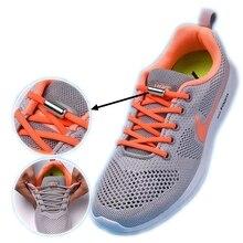 1 pair of elastic semicircle shoelace lock sneakers lazy fast kids adult 21colors