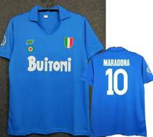 Maglie calcio italia napoli 1987/1988 itália nápoles retro maradona vintage footbal 1987 1988 camisa de futebol