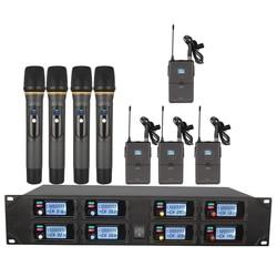 Orban bezprzewodowy system mikrofonowy ośmiokanałowy zestaw słuchawkowy UHF bezprzewodowy mikrofon występ na scenie/mowy szkolnej