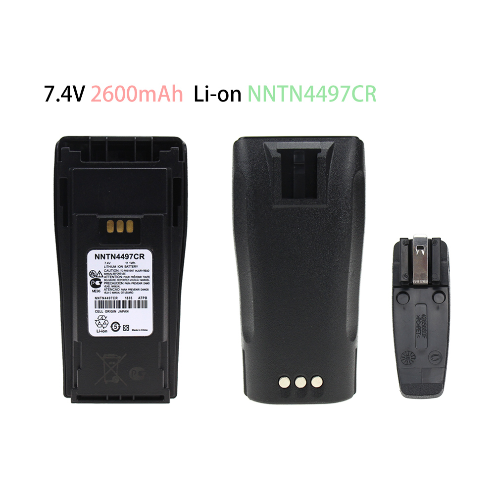 2-Way Radio Replacement Battery 2600mAh Li-on For Motorola NTN4496 And CP040, 140, 160, 200 Radios