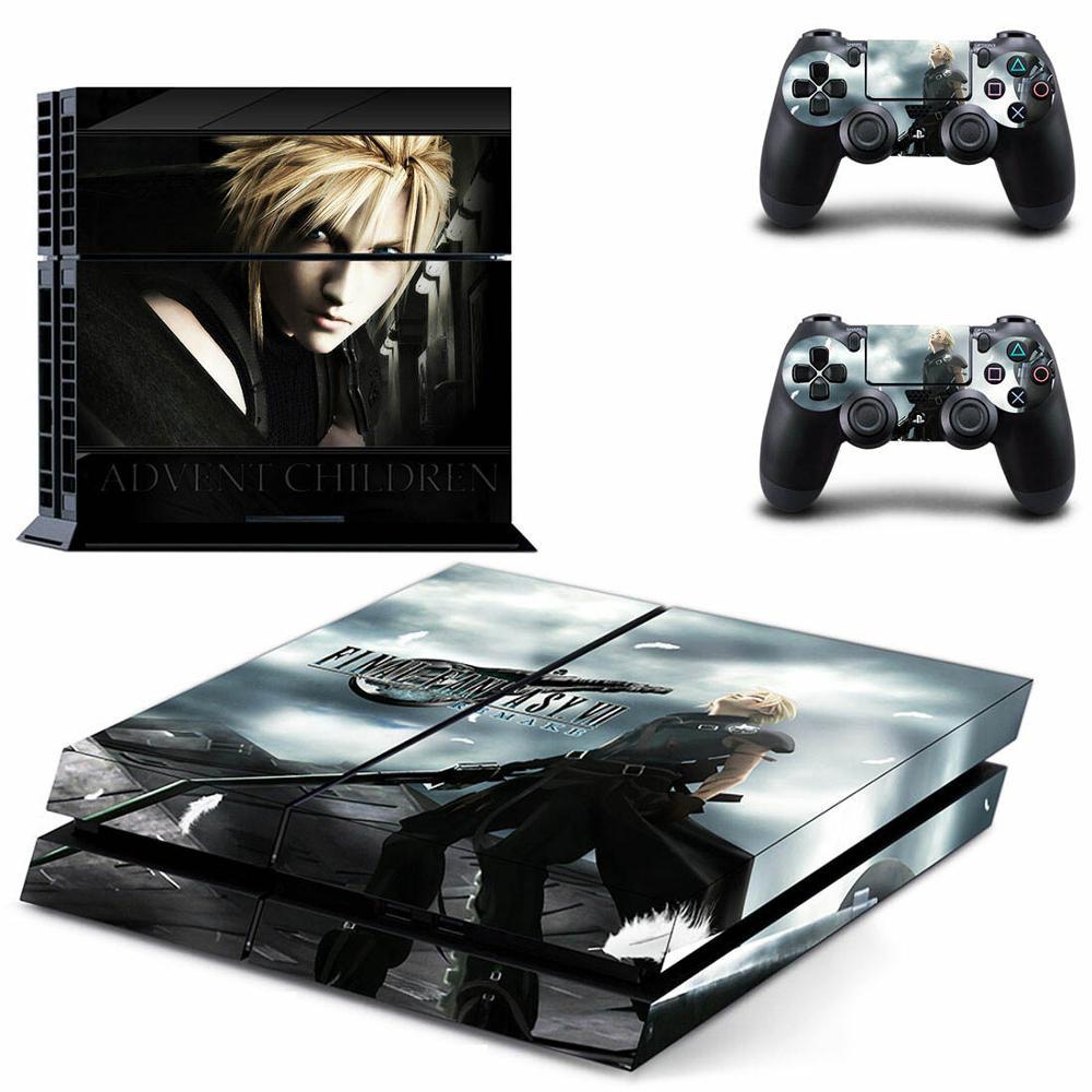 Adesivos de Final Fantasy VII PS4 Decalques de Vinil Adesivo De Pele PS 4 Play station 4 4 Adesivo Para PlayStation console e 2 controlador