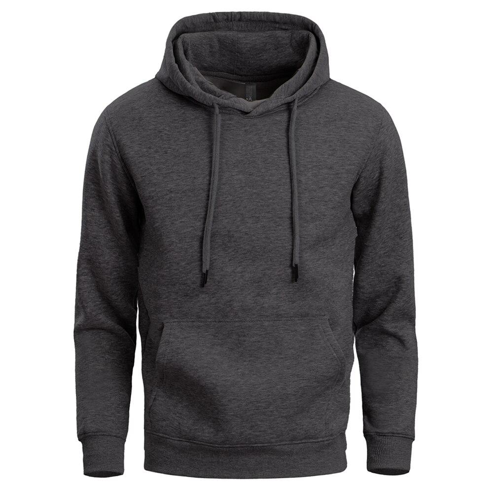 Soild Colour Hoodies Sweatshirts Men'S Hip Hop Punk Style Fleece Hoodie 2020 Spring Autumn Male Hooded Casual Sportswear For Men
