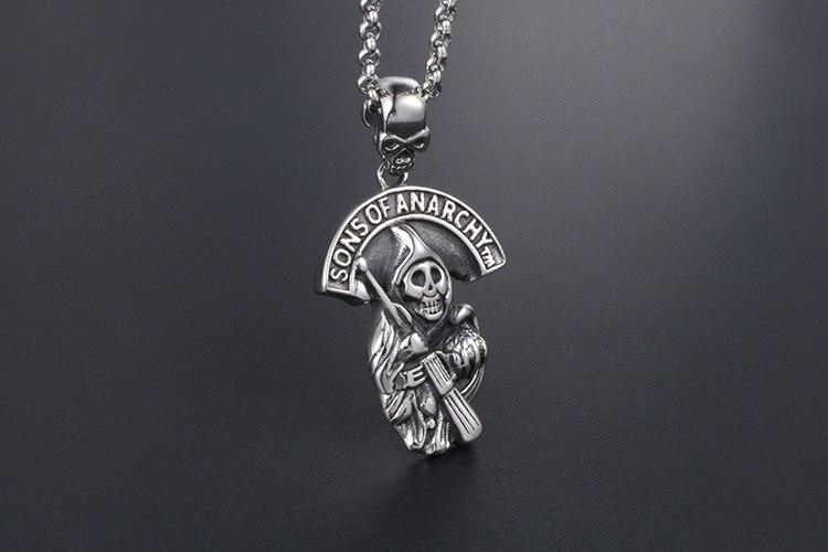 Collar con colgante símbolo Son of Anarchy Hijos de la Anarkia