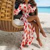 Sexy Beach Dress Cover Up Bikini Print Bathing Suit Women Kimono Plus Size Tunic Girl Summer Long Dress Women Cover-Ups 5