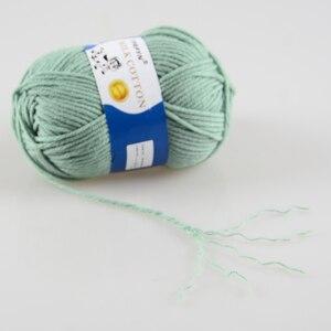 Image 4 - TPRPYN Hilo de ganchillo para tejer leche, 1 pieza = 50g 95M, hilo de punto de algodón suave y cálido, hilo de línea de punto hecho a mano, Alfombra de costura