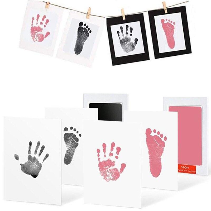 Безопасные нетоксичные с детскими следами отпечаток не прикасаться кожи бескраскового пусковая площадка чернил Наборы для 0-10 месяцев фон ...