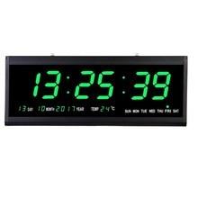 Large Digital Wall Clock LED Time Calendar Temperature Display Desk Table Clocks Electronic LED Clocks With EU/US/UK Plug