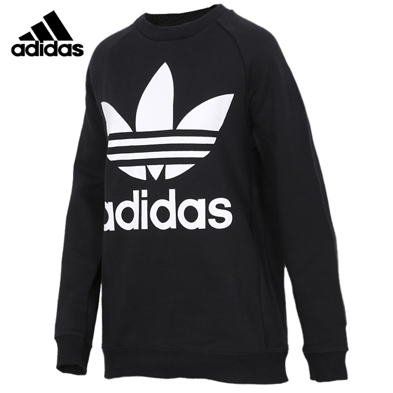 Original <font><b>Adidas</b></font> OVERSIZED SWEAT <font><b>Mens</b></font> Black Hoodies Sportswear Sweatshirt DH3129 image