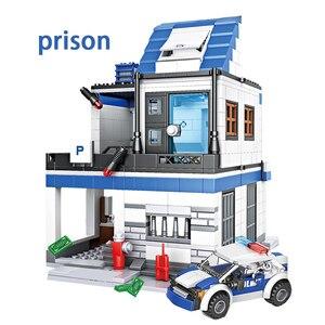 Image 5 - 746 Uds comisaría de policía de bloques de construcción de helicóptero militar SWAT WW2 coche equipo de ladrillos juguetes educativos para niños