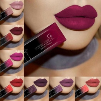 2019 Hot Waterproof Liquid Lip Gloss Metallic Matte Lipstick Cosmetic Sexy Batom Mate Lip Tint Makeup Lasting 24Hours Mate Levre