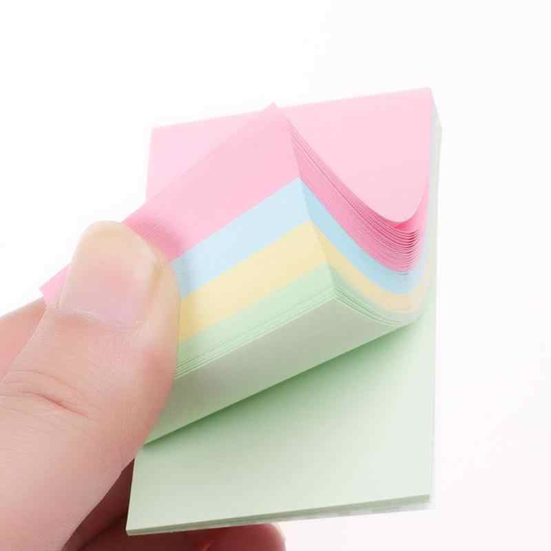 Simple Sticky Notes Self-Perekat Kertas Memo Bantalan Lembar Lengket Catatan Bookmark Sekolah Stationery
