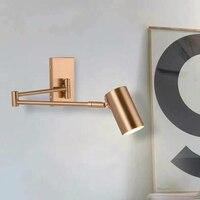 Nordic Rocker Wall Lamps Bedroom Bedside Modern Living Room Sconce Wall Lights Long Arm Luxury Study Table Lighting Mirror Light