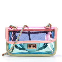 Fashion Small Transparent Jelly Package Crossbody Cute Jelly Waterproof Convenient Messenger Shoulde