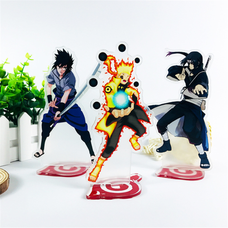 NARUTO Uzumaki Naruto Uchiha Sasuke Cosplay Character Props Anime Accessory Set Up Toy Gift Decoration