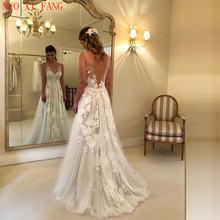 Женское свадебное платье с v образным вырезом длинное вечерние