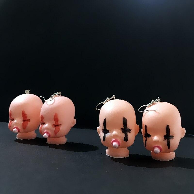Sleeping Baby Head Earrings 3
