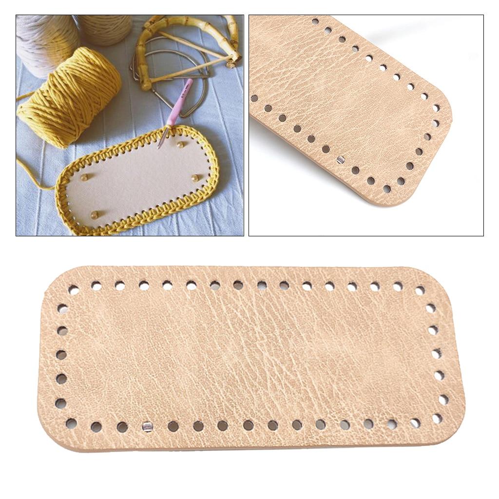 4x Knit Leather Bag Pad Bottom Base Shaper Pet Bag Cushion 38 Holes 4 Colors