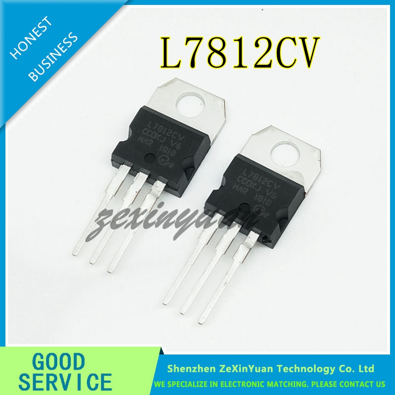 20PCS/LOT L7812CV TO-220 L7812 LM7812 7812 Three Terminal Voltage Regulator 12V TO-220