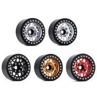 """INJORA 4PCS 1.9"""" Metal Beadlock Wheel Hub Rim for 1/10 RC Crawler Car Traxxas TRX4 Axial SCX10 90046 AXI03007 RedCat Gen8 2"""