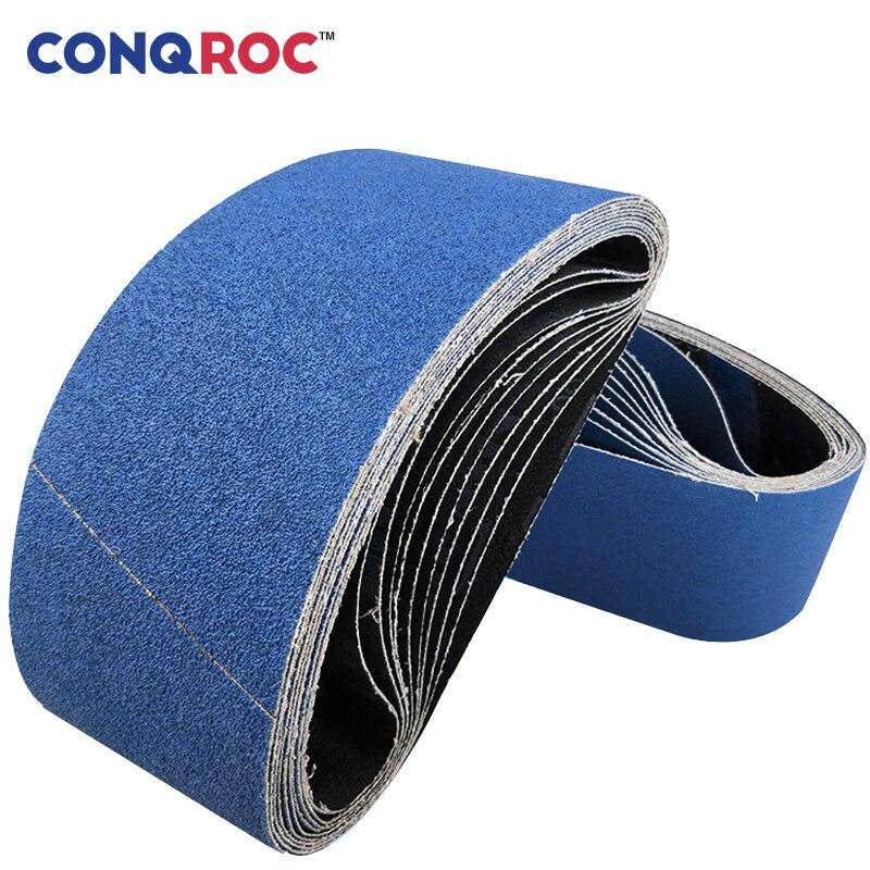 5 Pieces 100 X 915mm 4'' X 36'' Sanding Belts Zirconia Blue Sander Belt Grit 40 60 80 120 Abrasive Belt