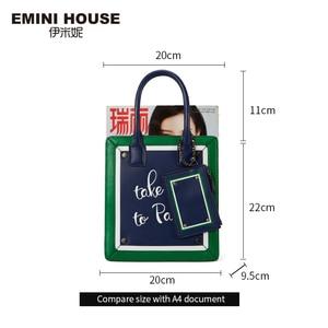 Image 2 - EMINI HOUSE Paris Series Tote Bag Split Leather Crossbody Bags For Women Shoulder Bags Luxury Handbags Women Bags Designer