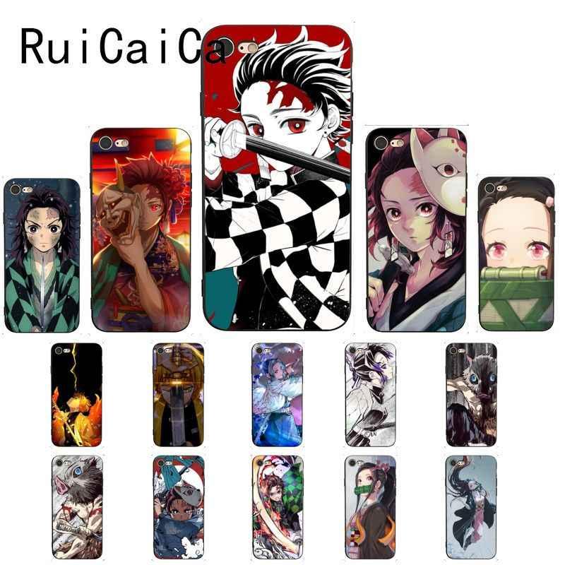 Ruicaica Anime Demon Slayer Kimetsu No Yaiba Cover Black