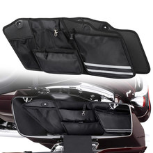Motorcycle Saddlebag Organizer For Touring Road King For Street Glide Road King 2014-2019 Tool Storage Case Luggage Liner Bags