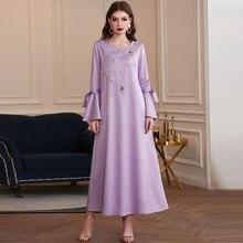 Кафтан Абая Дубай Турция модное платье Исламская одежда макси