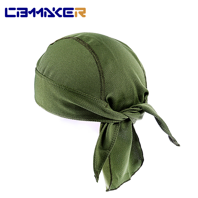 Unisex Cycling Bandana Quick Dry Beanie Skull Cap Camouflage Solid Pirate Hat