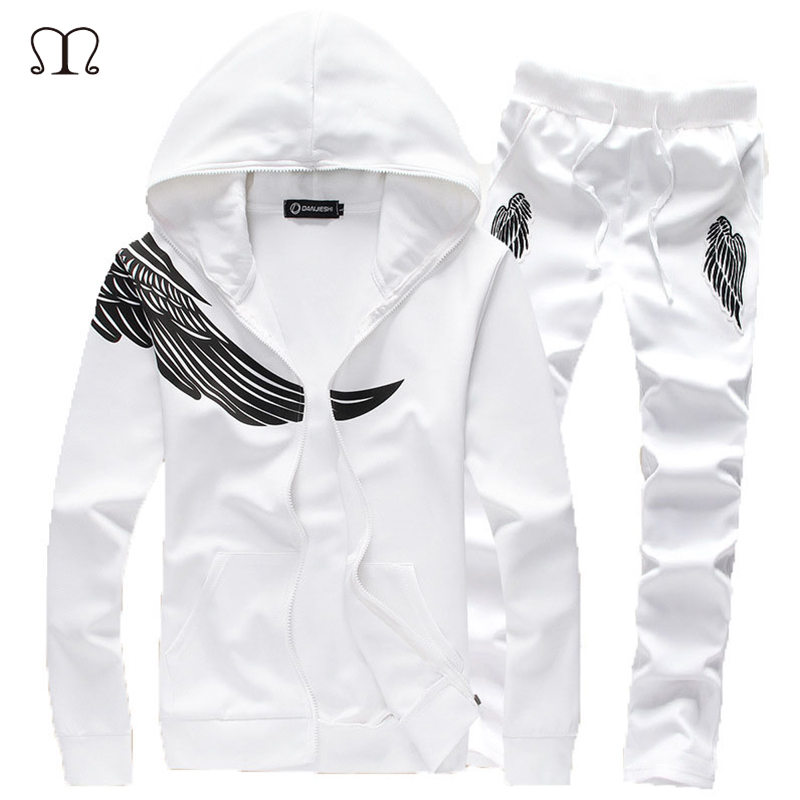 Tracksuit Men Sets Spring Autumn Hooded Sweatshirt Casual Set Men's Sportsuit Jacket+Pants Male 2018 Brand Sportswear Clothing