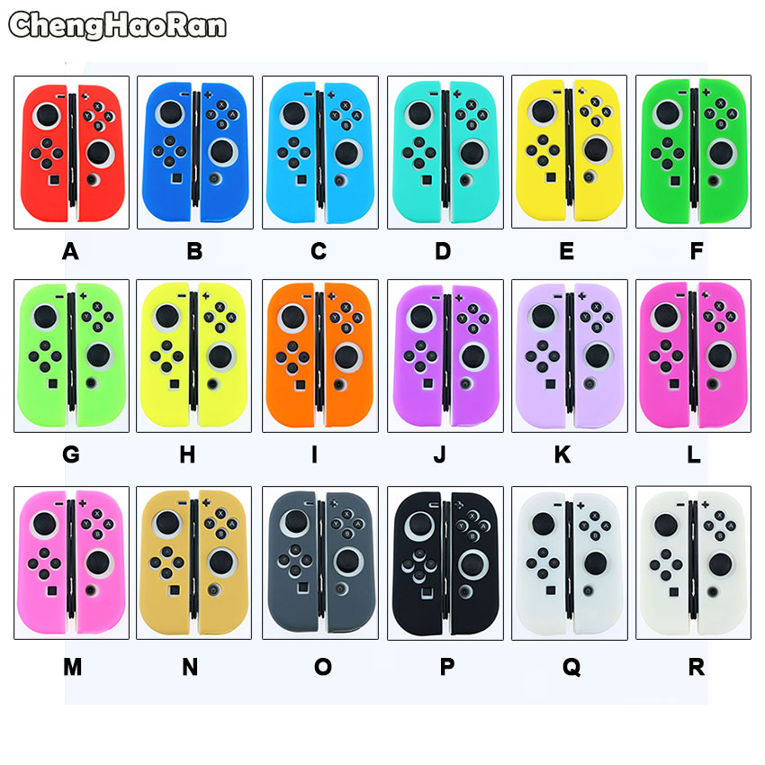 ChengHaoRan Silicone Rubber Skin Case Cover For Nintendo Switch Joy Con Controller For Switch NX NS Joycon Grip Protective Case