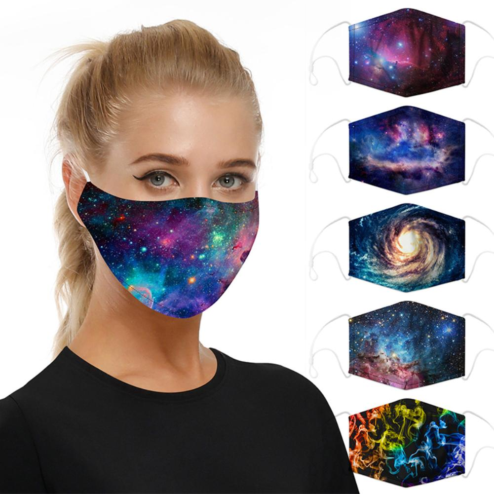 Stylish Starry Print Breathable Washable Anti-dust Anti Pollution Dust Proof Mask Replacement Filters Fast Shipments
