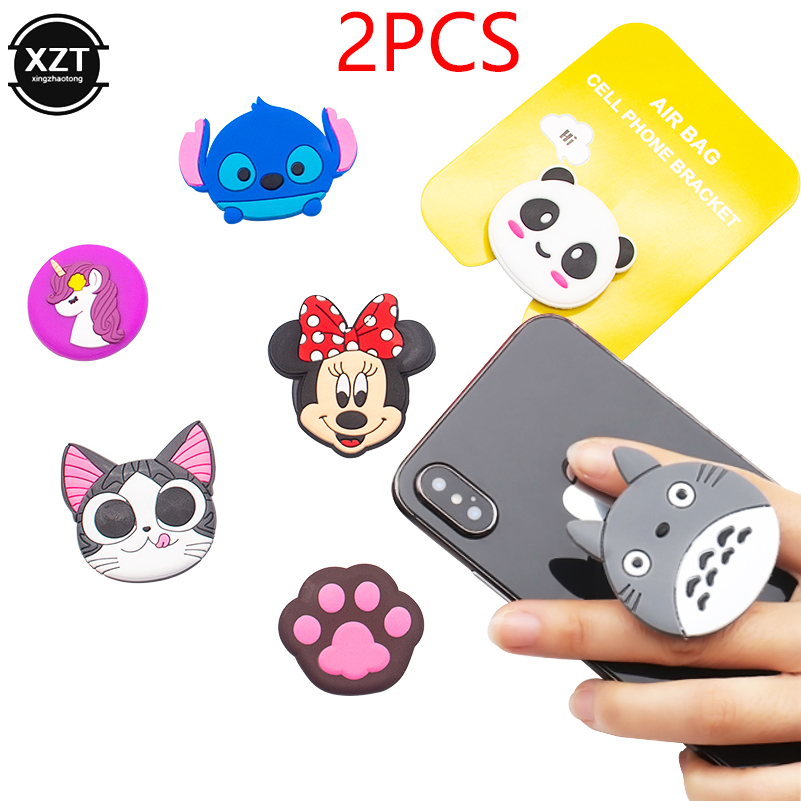 2PCS Cute Cartoon Mobile Phone Grip Bracket Phone Expanding Stand Phone Finger Ring Holder For Phones For Iphone Xiaomi Samsung