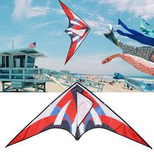 цена Colorful Kite Flying Foldable DIY Painting Kite Outdoor Beach Kite Children Kids Sport Funny Toy Garden Cloth Kite