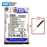 "WD Marke 500Gb 2,5 ""HDD SATA Interne Festplatte 500G HD Festplatte 3-6 GB/s 5400-7200RPM Blau festplatte für Laptop Kostenloser versand"