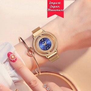 Image 5 - MISSFOX Magnetische Uhr Frauen Luxus Marke Wasserdicht Diamant Frauen Uhren Hohl Blau Quarz Elegante Gold Damen armbanduhr
