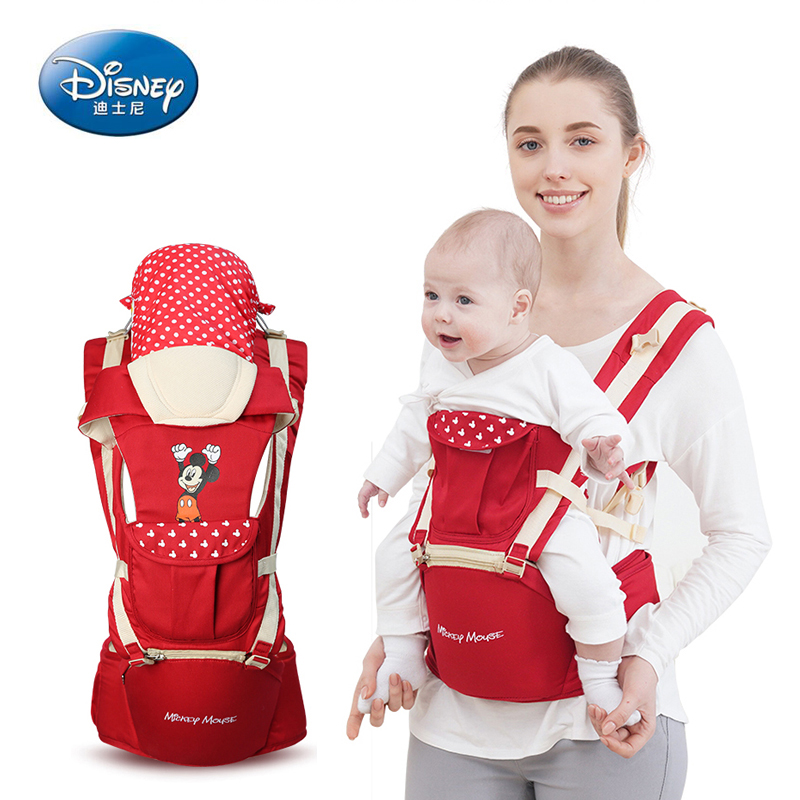 Disney Baby Carrier Multi-function Front Baby Carrier Baby High Quality Sling Backpack Bag Green Kangaroo Ergonomics Hipseat
