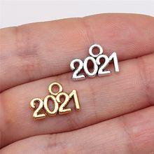 Wysiwyg 40 шт год Номер 2021 Подвески diy ювелирных изделий