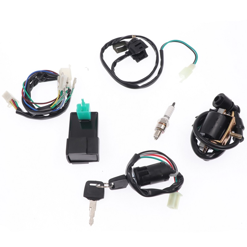 1 conjunto profissional cablagem elétrica completa tear motocicleta cdi bobina kit para atv quad pit bike kart 50/70/90/110-160cc