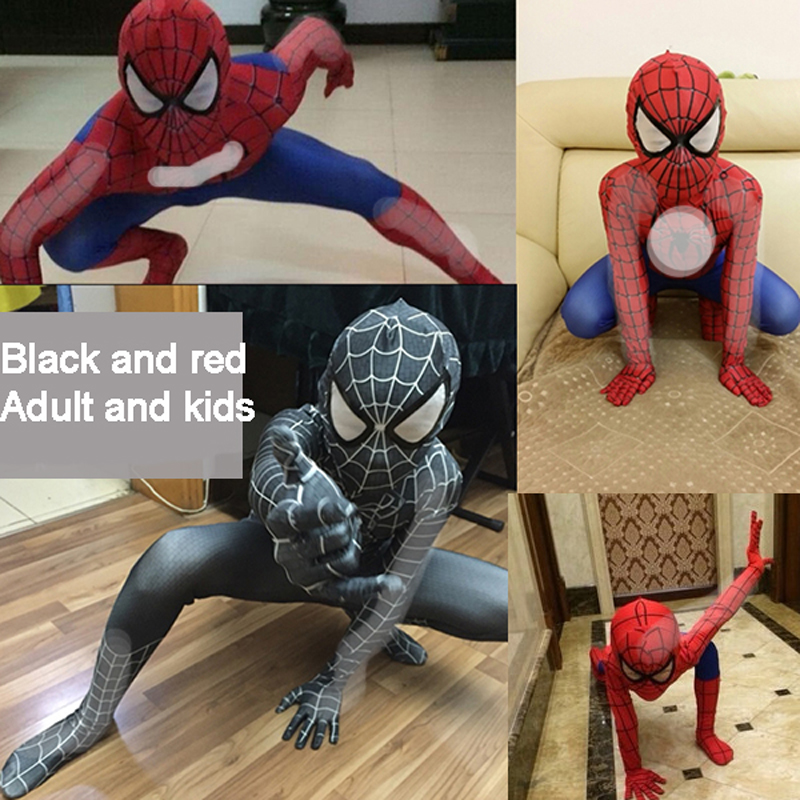 Amazing Spiderman Spandex Zentai Suit Cosplay Costume For Kids//Adult
