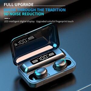 Image 3 - חדש F9 אלחוטי אוזניות TWS Bluetooth 5.0 אוזניות 8D HIFI סטריאו עמיד למים אוזניות אוזניות טעינת תיבת עם מיקרופון