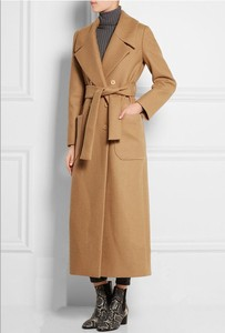 Image 4 - Solid Wide waisted Women Long Woolen Coat Double Breasted Warm Womens Jacket Elegant Casual Cashmere Coat and Jacket