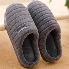 2019 New Fashion Warm House slippers Plus size 43 velvet Indoor Non slip Soft Cozy Slippers for home